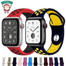 Спортивный ремешок для apple watch 5, ремешок 44 мм/40 мм, apple watch 5, 4, 3, ремешок iwatch, ремешок 42 мм/38 мм, браслет correa, ремень, аксессуары для часов