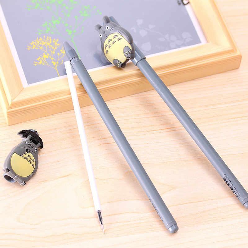 الكورية الإبداعية هلام أقلام القرطاسية الكرتون لطيف رمادي القط الأسود قلم محايد اللون مكتب واللوازم المدرسية