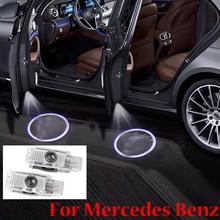 2 Pieces Car Door Light Logo Laser Projector For Mercedes Benz W203 C-Class 2001-2007 C Class SLK CLK SLR R171 R199 W209 цена 2017