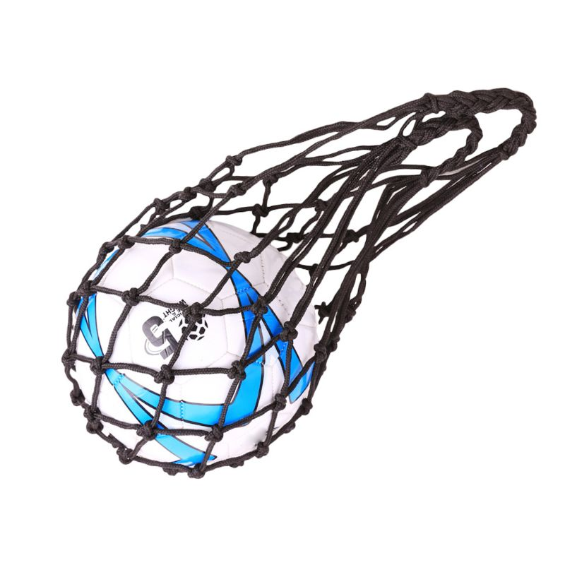Weaving Polyester Net Bag Portable Football Basketball Volleyball Sport Mesh Bag X3UA