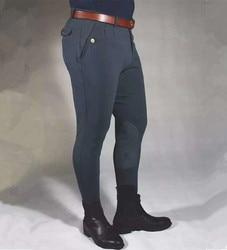 Pantalons d'équitation hommes vêtements pantalons élastiques hauts hommes culottes équestres hommes pantalons de cavalier de cheval équipement d'équitation maigre