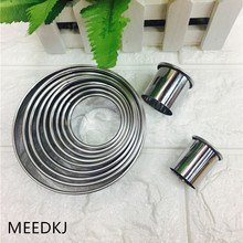 DIY baking tools stainless steel curled round cake cutting die fondant mold mousse cake ring dumplings 14pcs set stainless steel dumplings wrappers cutter maker tools cake moulds mousse ring round stainless steel cookie molds set
