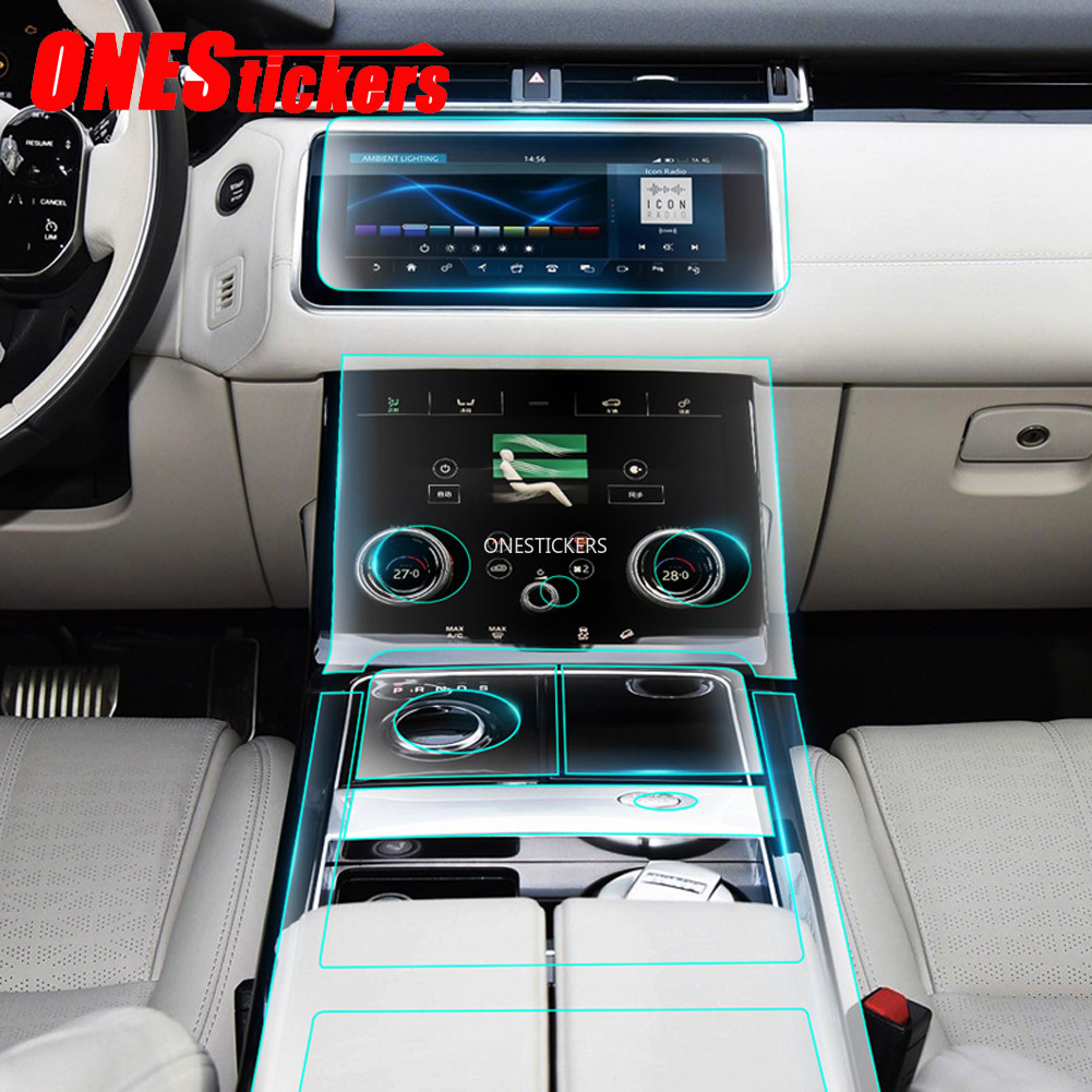 Car Center Console AC Full Set TPU Protector Film For Land <font><b>Rover</b></font> Discovery 5 L462 <font><b>Range</b></font> <font><b>Rover</b></font> Sport <font><b>Vogue</b></font> Velar Evoque L494 <font><b>L405</b></font> image