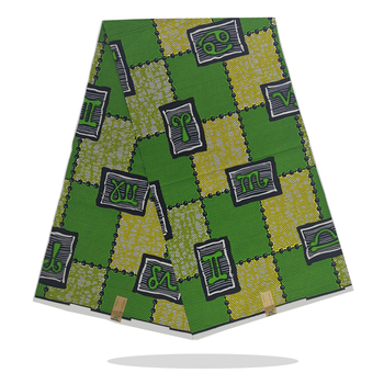 Dutch Wax Dye Prints Fabric 100%High Quality Sewing Material Veritable Ankara African Wax Printed Cotton Fabric 6 Yards SP18-85