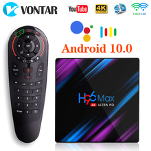 H96 MAX Android 10 Smart TV Box 4GB RAM 32GB RK3318 Media player 4K Google Voice Assistant Youtube H96MAX 2GB16GB Set Top Box