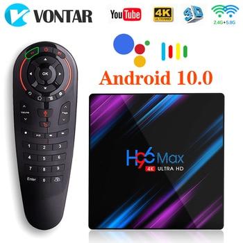 H96 MAX Android 10 Smart TV Box 4GB RAM 32GB RK3318 Media player 4K Google Voice Assistant Youtube H96MAX 2GB16GB Set Top Box