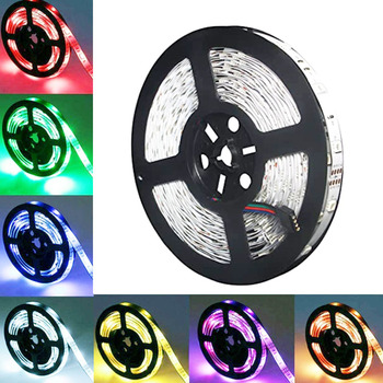 RGB LED Strip 5M SMD 5050 DC 12V Led Strip Light Tape Waterproof RGB LED Light Diode Ribbon Flexible for home decoration 300leds 1m smd 5050 rgb 60 led strip light dc 12v for christmas holiday