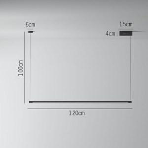Image 4 - מינימליסטי LED תליון מנורות לסלון מסעדה שינה בית תליית מנורת נורדי אלומיניום שחור אמנות ארוך Pendnat אורות
