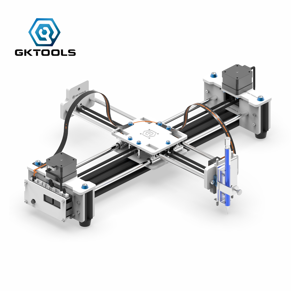 Drawing Machine Free Shipping  New Upgrade GKDraw X3 DIY Acrylic Corexy XY Drawbot GRBL Plotter Kit Lettering Robot CNC