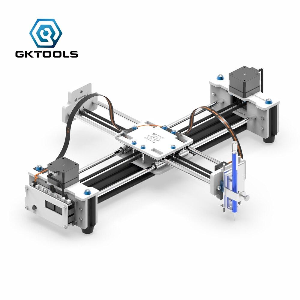 Zeichnung Maschine Freies Verschiffen Neue upgrade GKDraw X3 DIY Acryl Corexy XY Drawbot GRBL Plotter Kit Schriftzug Roboter CNC