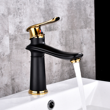 2019 New Style Black Brass Basin Faucet Single Handle Basin Mixer Tap Hot Cold Bathroom Faucets Sink Waterfall Faucet