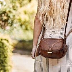 Cobbler Legend marca diseñador 2019 de cuero genuino Vintage bolso de hombro para mujer bolsos de bandolera para damas
