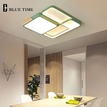 New Surface Mounted  Ceiling Light For Foyer Living room Bedroom Modern Led Chandelier Ceiling Lamp Lighting Fixtures Gray&Green