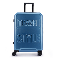 Silent Universal Wheel Luggage Business Anti theft Boarding Trolley Box Solid Color Letter Boarding Luggage Truncus