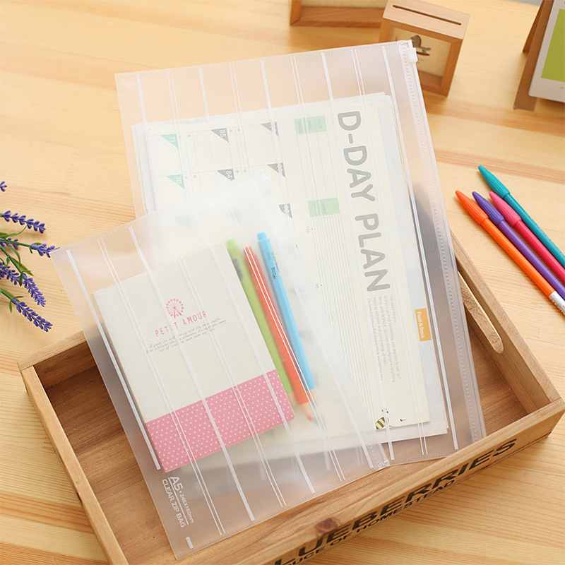 1 Piece Thicken Folder Transparent File Bag  Office Organizers  PP Document Organizer File Folder A4&A5 Fashinable