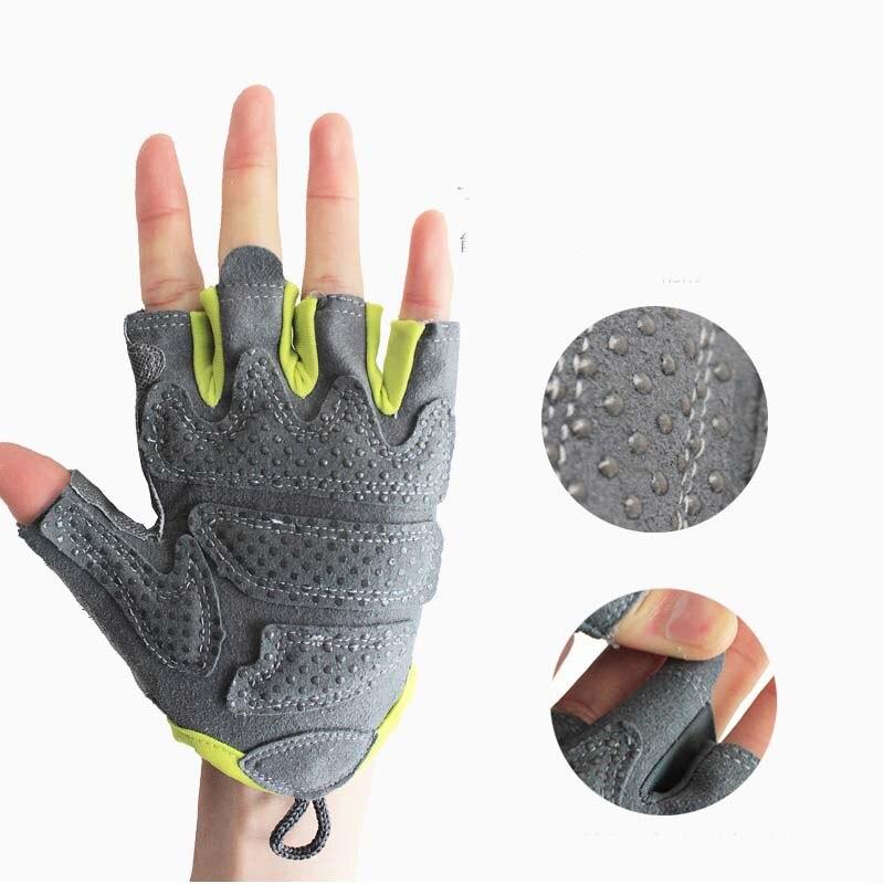 Women's Mesh Thin Breathable Fingerless Fitness Sports Non-slip Gloves