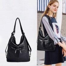 купить Casual Ladies Shoulder Bag Leather Multi-function Handbag Waterproof Work Shopping Large Capacity Ladies Crescent Package по цене 1680.38 рублей