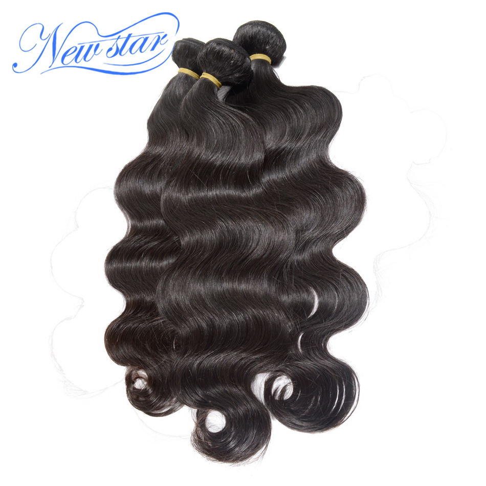 Indian Virgin Hair Body Wave 3 Bundles Thick Human Hair Weave Extension 100 Unprocessed New Star