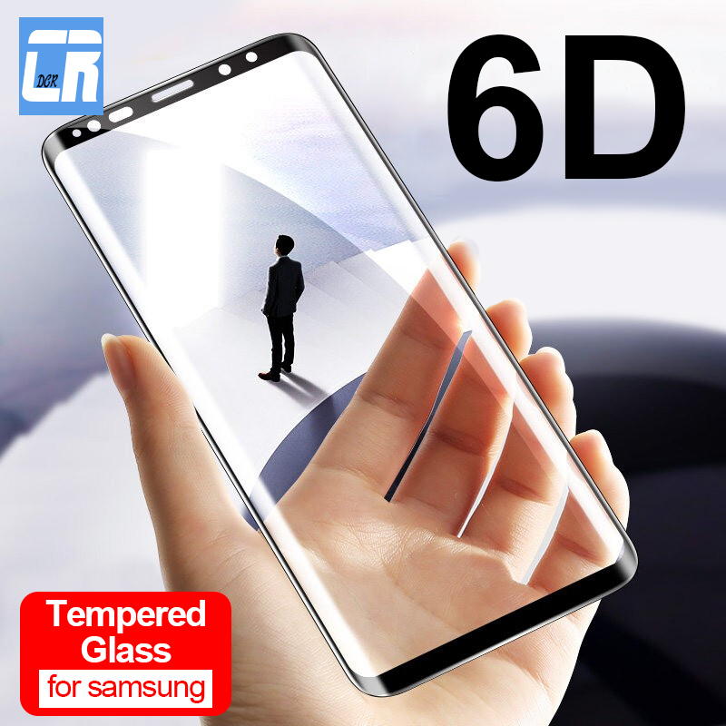 6D Curved Edge Tempered Glass For Samsung Galaxy Note 8 9 10 Pro Screen Protector For Samsung S8 S9 S10 Plus Protective Glass
