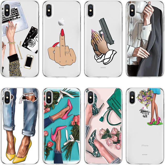 Sassy Girl Boss Queen High Heels Case For iPhone Soft TPU cover