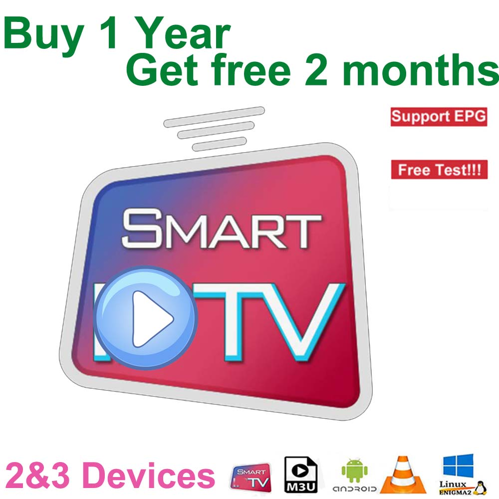 Stable IPTV Subscription 14 Months 2 Devices 3 Devices  HD IPTV Support Android M3U Smart TV