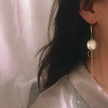 French Baroque  personality cross retro coin asymmetrical long earrings for women indian bohemian