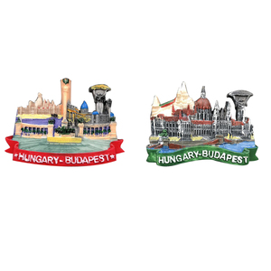 Resin Magnetic Refrigerator Stickers Hungary Budapest Panorama Tourist Souvenir Crafts Fridge Magnets For Home Fridge Decor Gift(China)