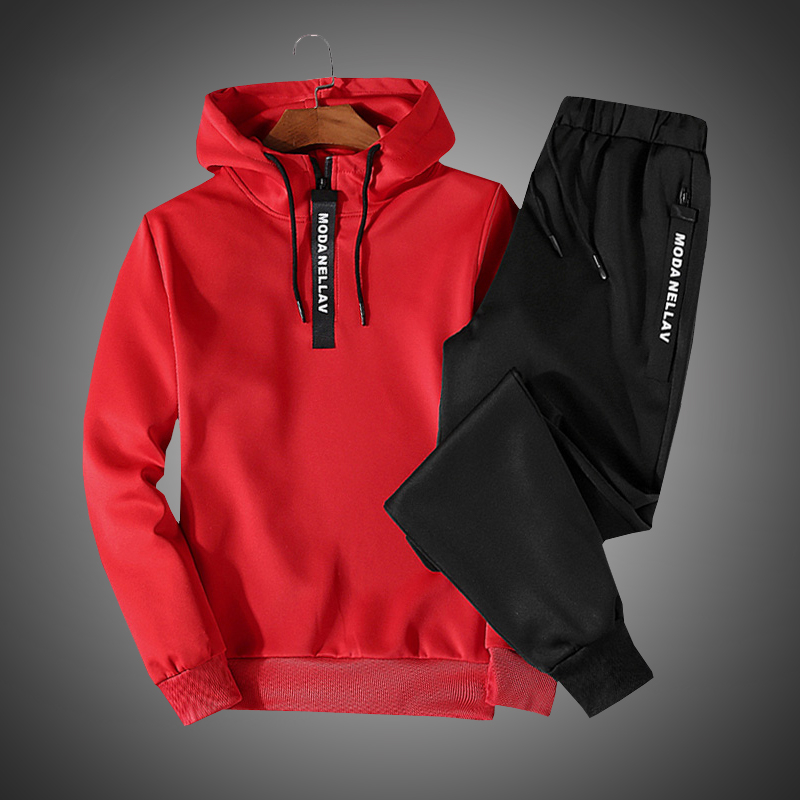 Men Clothing Set Sportswear 2018 Autumn New Hoodies Sweatshirts Sporting Sets Men's Tracksuits Two Piece Hoodies+Pants 2pcs Sets