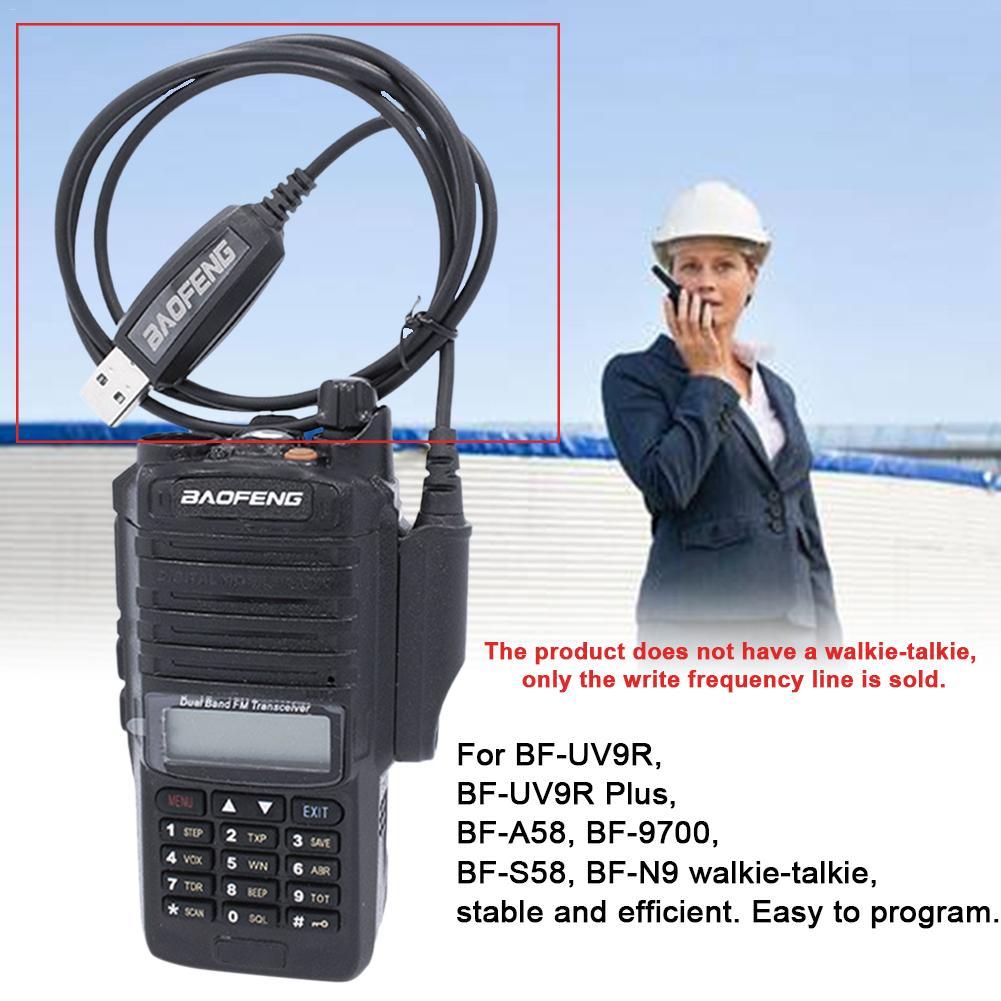 Walkie Talkie USB Programming Cable Waterproof Cord For Baofeng 8W/15W UV-9R PLUS A58 Walkie Talkie High Quality