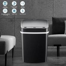 Умный мусорный бак Беспроводной Сенсор автоматическое мусорное ведро Бесконтактный Чана для мусора Ванная комната Туалет мусорное ведро для Кухня бытовых отходов в бункере