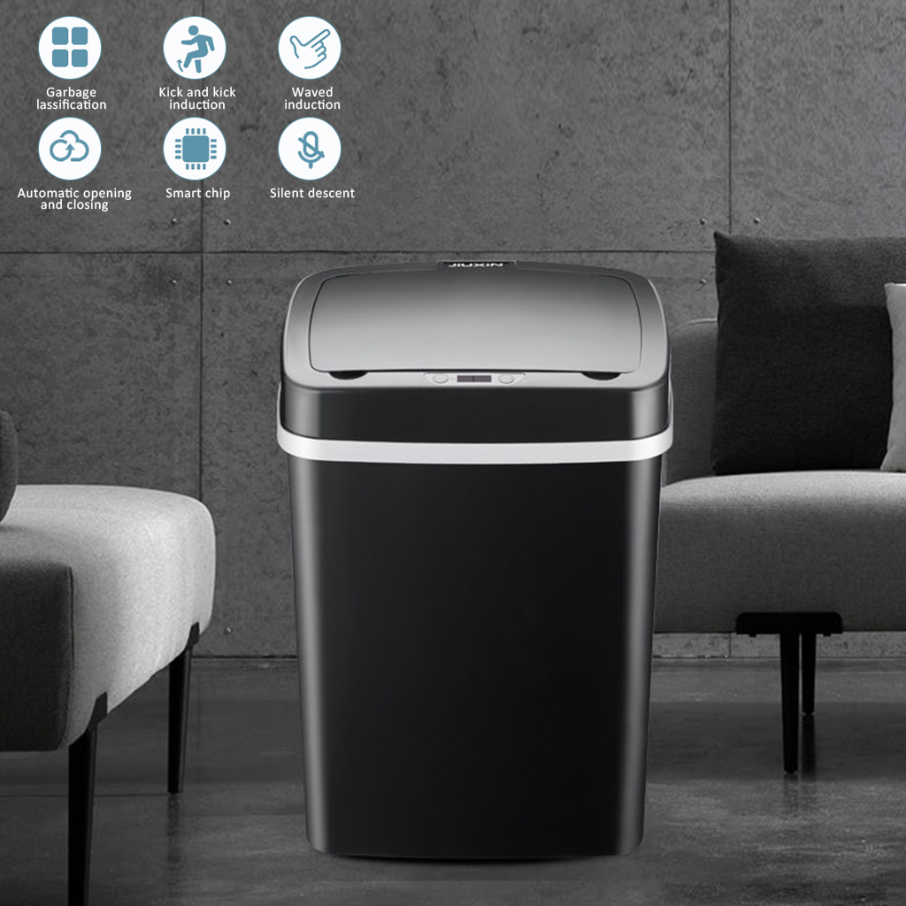 Smart Trash Can Wireless Sensor Automatic Trash Bin Touchless Garbage Bin Bathroom Toilet Dustbin Kitchen Household Waste Bin