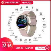 Elegante Smart Uhr Frauen 1,22-zoll Großen Bildschirm Wasserdichte IP67 Herz Rate Blutdruck Tracker Uhr für iPhone 7/Xiaomi