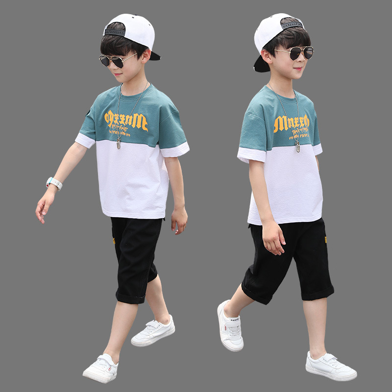 New Summer Boys Clothing Sets Children T-shirt Short Sleeve +Pants Set Two Pieces Set Kids Baby Boys <font><b>Clothes</b></font> 6 8 10 <font><b>11</b></font> <font><b>Years</b></font> <font><b>Old</b></font> image