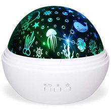 Star Projector Light Night Lamp Romantic Rotating Sea Animals Star Moon Cover Projector Night Lighting For