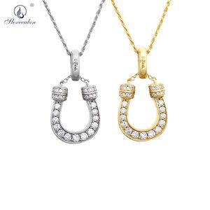 Женская Роскошная Длинная цепочка из стерлингового серебра 925 пробы с кристаллом циркония, большие ювелирные изделия