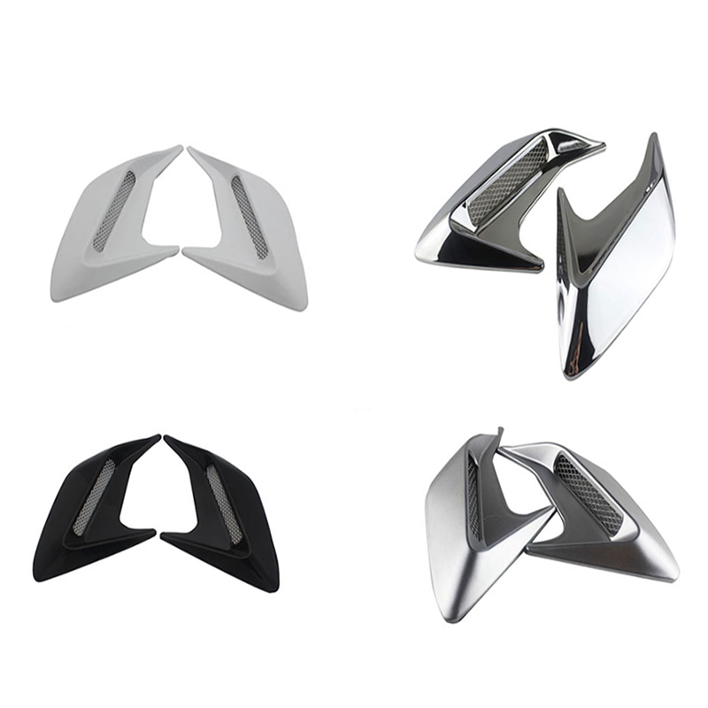 2PCS Car Side Vent Air Flow Fender Intake ABS Plastic Sticker Shark Gills Auto Simulation Side Vents Styling Car Accessories