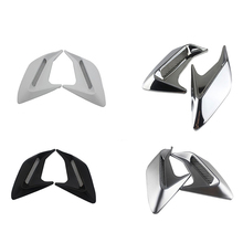 цена на 2PCS Car Side Vent Air Flow Fender Intake ABS Plastic Sticker Shark Gills Auto Simulation Side Vents Styling Car Accessories