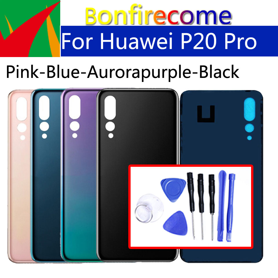 For Huawei P20 Pro Back Glass Battery Cover Rear Door Housing Cover Case For P20Pro CLT-L04 L09 T-L09C AL00 AL01 Chassis Shell