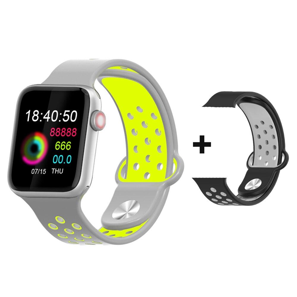 Smart Watch Men Women Full Touch Screen Smartwatch Blood Pressure All Alloy Case Women Smart Watch for Apple Android PK IWO