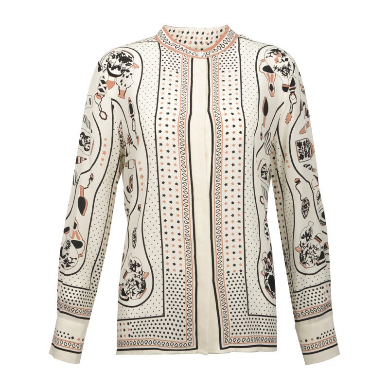 100% Echte Zijde Blouse Vrouwen Kleding 2020 Lente Zomer Shirt Koreaanse Luipaard Shirts Elegant Dames Tops En Blouses ZT2314 - 5