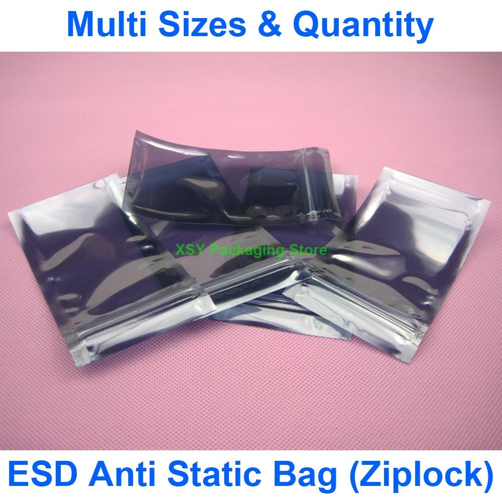 "Разные размеры ESD Антистатический защитный Ziplock Сумки (ширина 1,5 ""-2,8"") x (длина 2,8 ""-4"") eq. (От 40 до 70 мм) x (от 70 до 100 мм)"