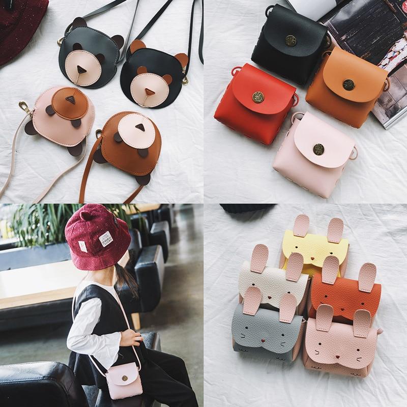 Детская мини-сумка, Детская сумка на плечо, медведь, Бао, Детский кошелек, нагрудная сумка, сумка для мобильного телефона, сумка с отделкой, посылка, кошелек