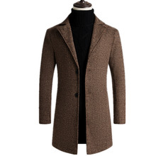2020 Fashion Winter Autumn Men Trench Coat Long Slim Fit Overcoat Jacket Wind Coats Fashion Outerwear Tops Men wool Coat