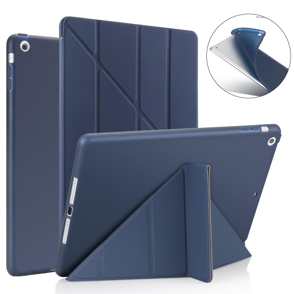 Умный чехол для Ipad Air 2 /Air 1, 5 форм, тонкий чехол из искусственной кожи с подставкой, мягкий чехол для iPad 9,7 2017/2018 5/6 th, режим автоматического сна/...