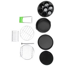 8 шт дюймов воздушная фритюрница сковорода для выпечки подставка