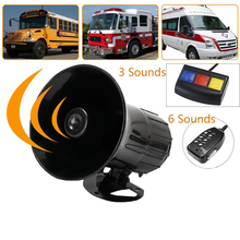 3 Sounds/6 Sounds Loud Security Warning Horn for Car Motorcycle 110dB 12V Universal Accessories