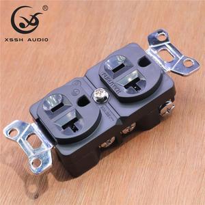 Image 5 - 1Pcs 2Pcs Xssh Audio Zuiver Koper Verguld Rhodium 20amp 20A 125V Amerika Standaard Ons Stopcontact elektrische Outlet