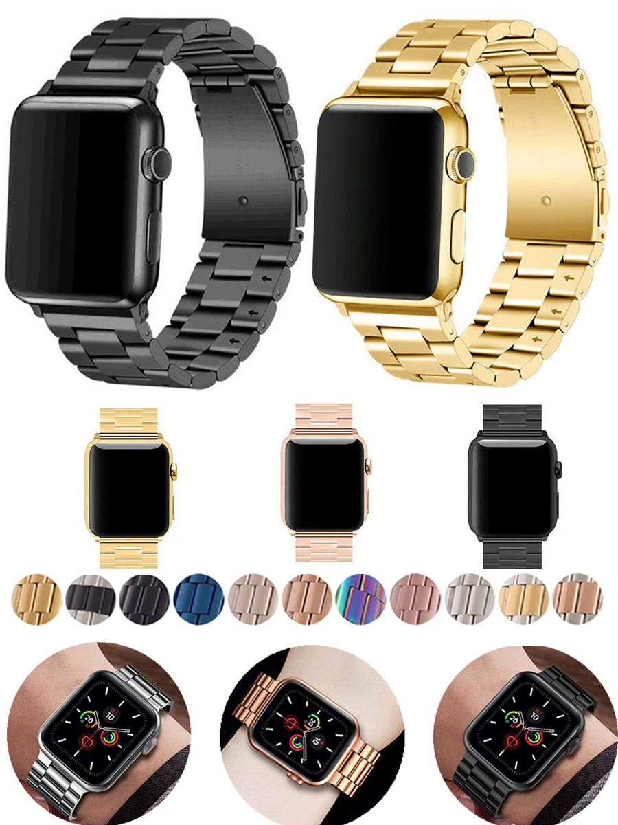 Band For Apple Watch 5 4 3 2 1 42mm 38mm 40MM 44MM Metal Stainless Steel Watchband Bracelet