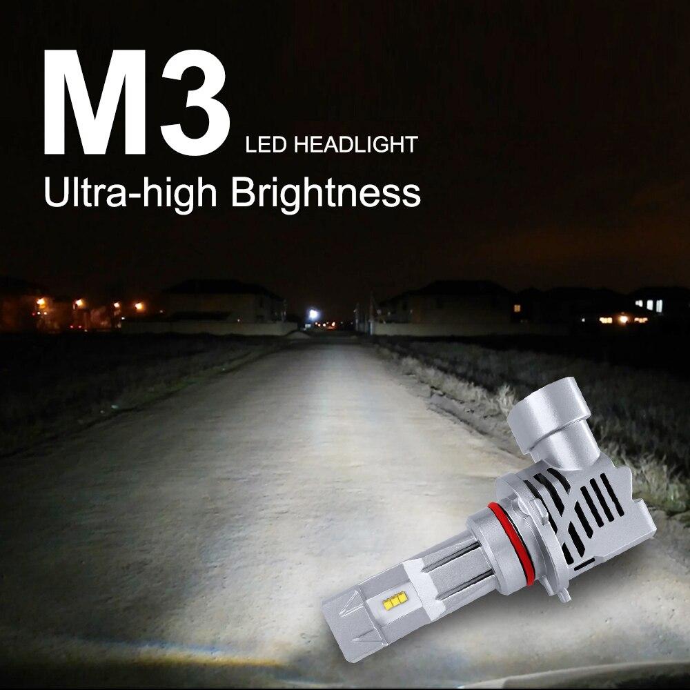 M3-LED Car Led headlight bulbs 9005/HB3/H10 9006/HB4 H1 H4/HB2/9003 H7 H8/H9/H11 Car LED Headlight Kit Replace Bulbs Lamp