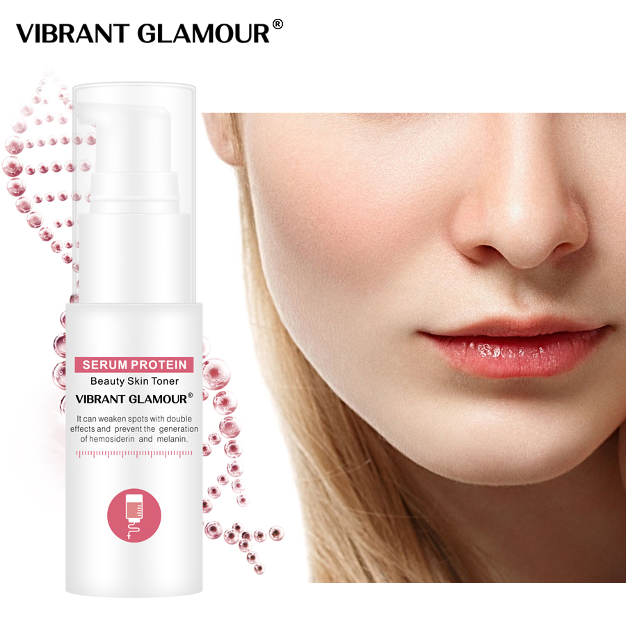 VIBRANT GLAMOUR Serum Protein Face Toner Moisturizing Whitening Face Serum Shrink Pores Relieve The Redness Sensitive Skin Care